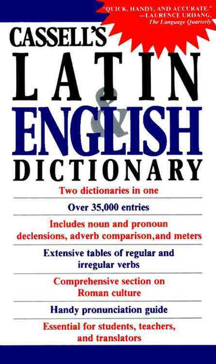Cassell's Latin and English Dictionary By Simpson, D. P. (COM)